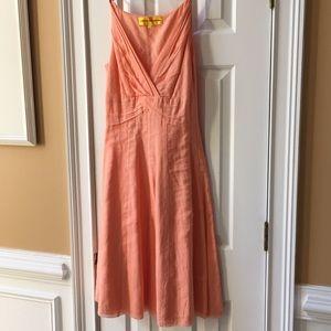 Catherine Malandrino tangerine/peach & side zipper